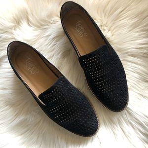 Franco Sarto Black Florie Platform Loafer